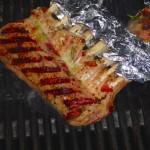 Lamkarree auf dem Grill